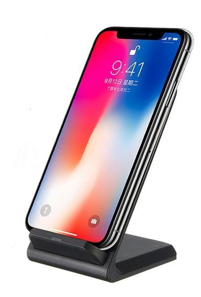 10W Dual Coil Qi Wireless Charger Stand iPhone Samsung