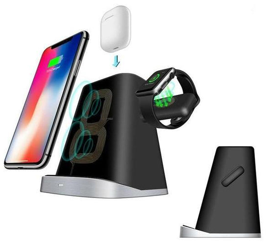 3-In-1 AirPods Apple Watch iPhone Qi Wireless Magnetic Charging Dock