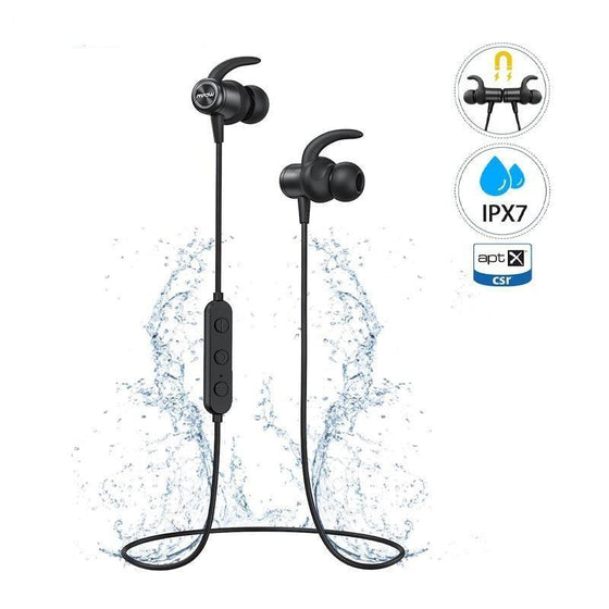 aptX Earbuds IPX7 Waterproof Bluetooth 5.0 Sports with Magnetic Design