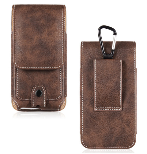 Leather Pouch Holds Your iPhone XS XR X 8 7 6 & Case
