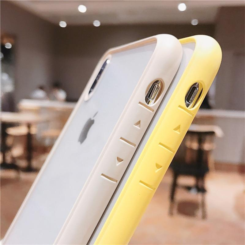 Shockproof Bumper Transparent Case For iPhone 7 8 + X XR XS XS Max