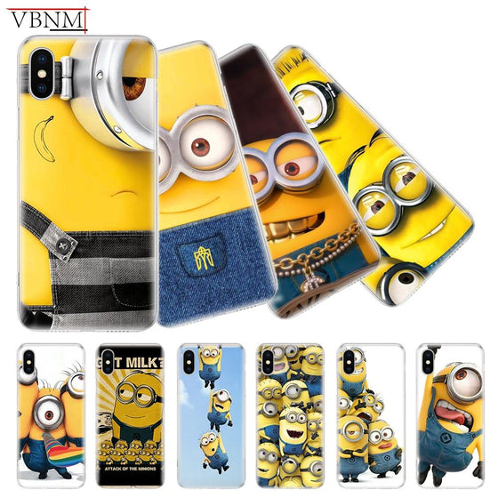 Despicable Me Minions iPhone Case For 7 8 Plus X 10 XS MAX XR