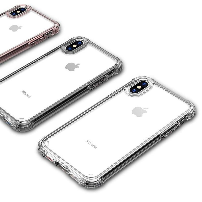 Clear Four Corner Strength Protection Case For iPhone 11 Pro Max Through 7