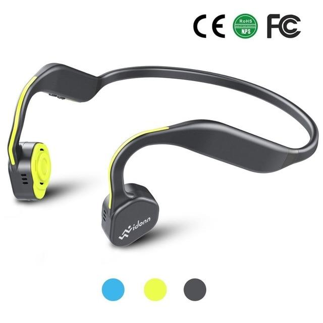 IP55 Bone Conduction Headset Wireless Bluetooth CVC Microphone