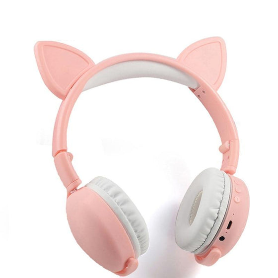 Colorful Cat Ear Bluetooth Wireless 5.0 Stereo Headphones
