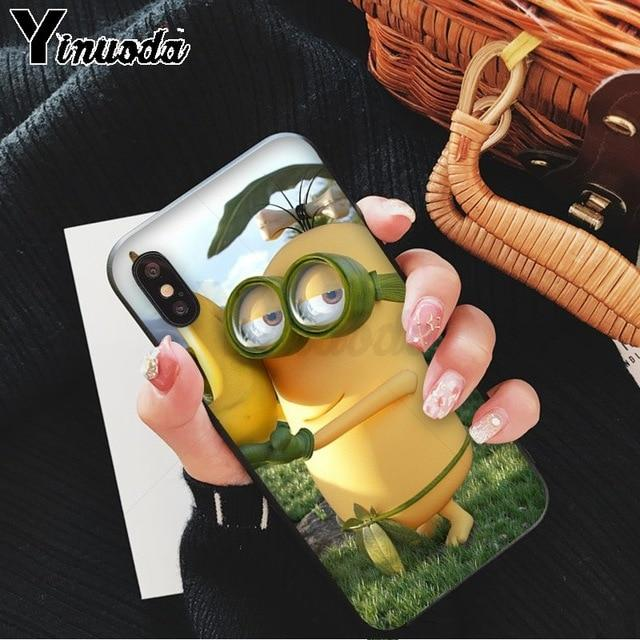 Cute Yellow Minion Colorful Case for iPhone X XS MAX XR 8 7 Plus
