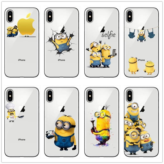 Super Cute Minion Case for iPhone 7-11 Pro Max