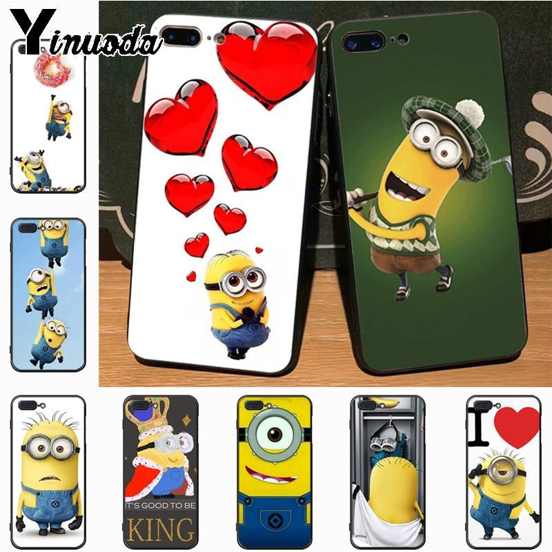 Funny Minion Transparent iPhone Cases 5-11 Pro X