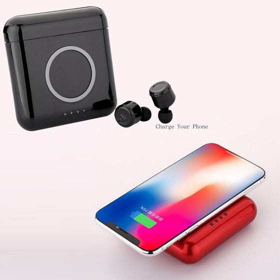 X4T 4.2 Bluetooth Earbuds Wireless Phone Charger 5400mAh Power Bank