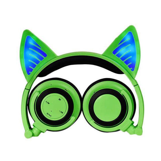 Bluetooth Cat With Glow Ears Wireless Headphones