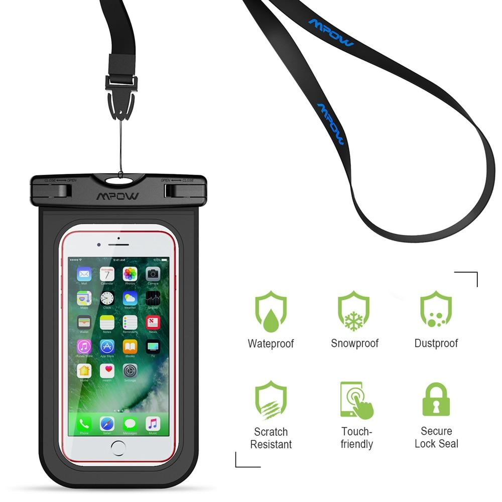 IPX8 Waterproof 6'' Cell Phone Cases 2pc Dry Bag Swimming Diving Pouch