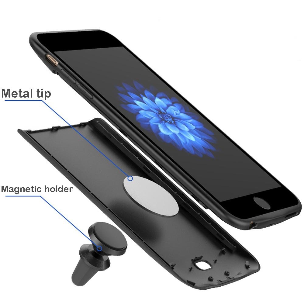 5000/7200mAh Battery Charger Magnetic Case For iPhone 6 6s 7 8 Plus