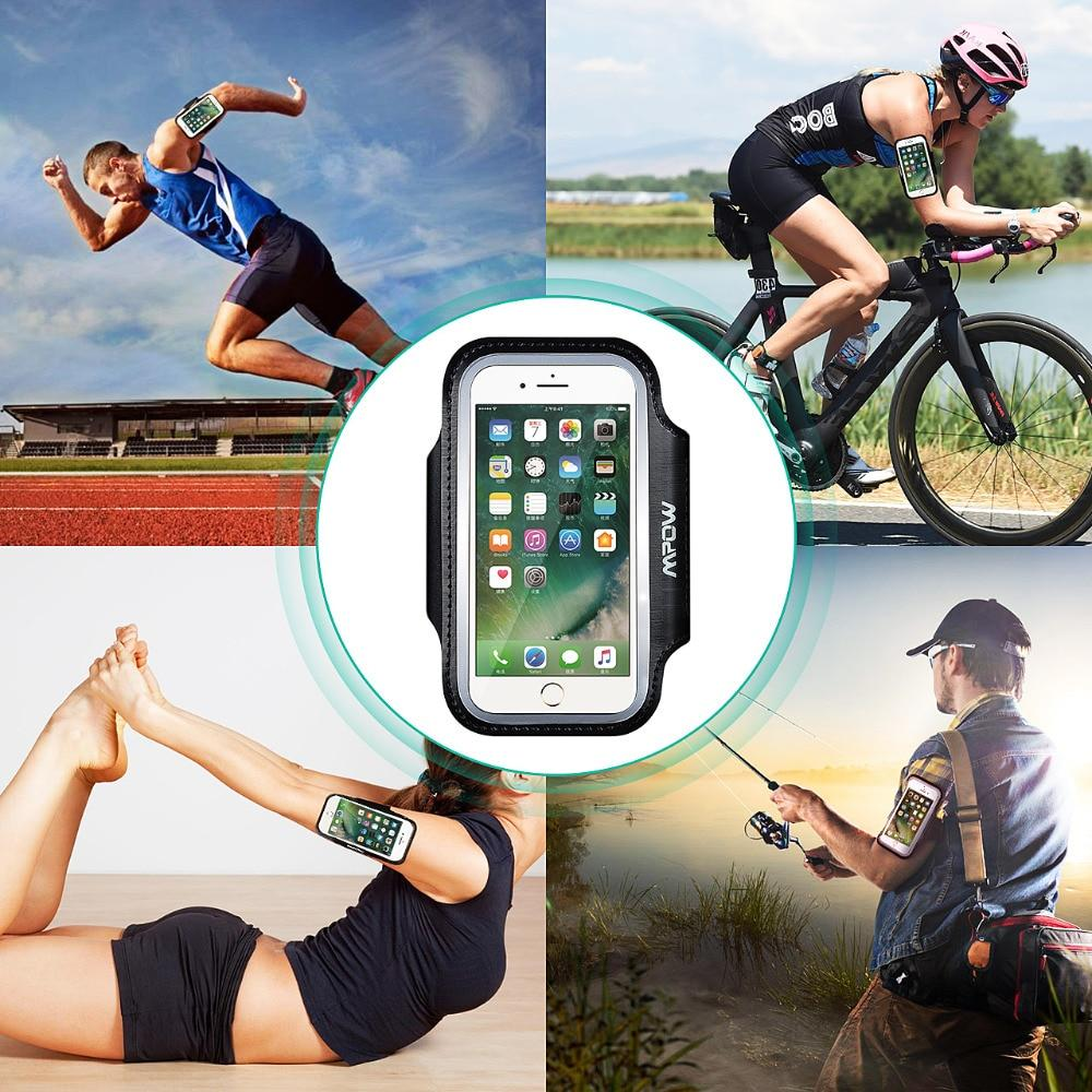 Touch Screen Sport Armband iPhone 8 7 6 6s Reflective Strip