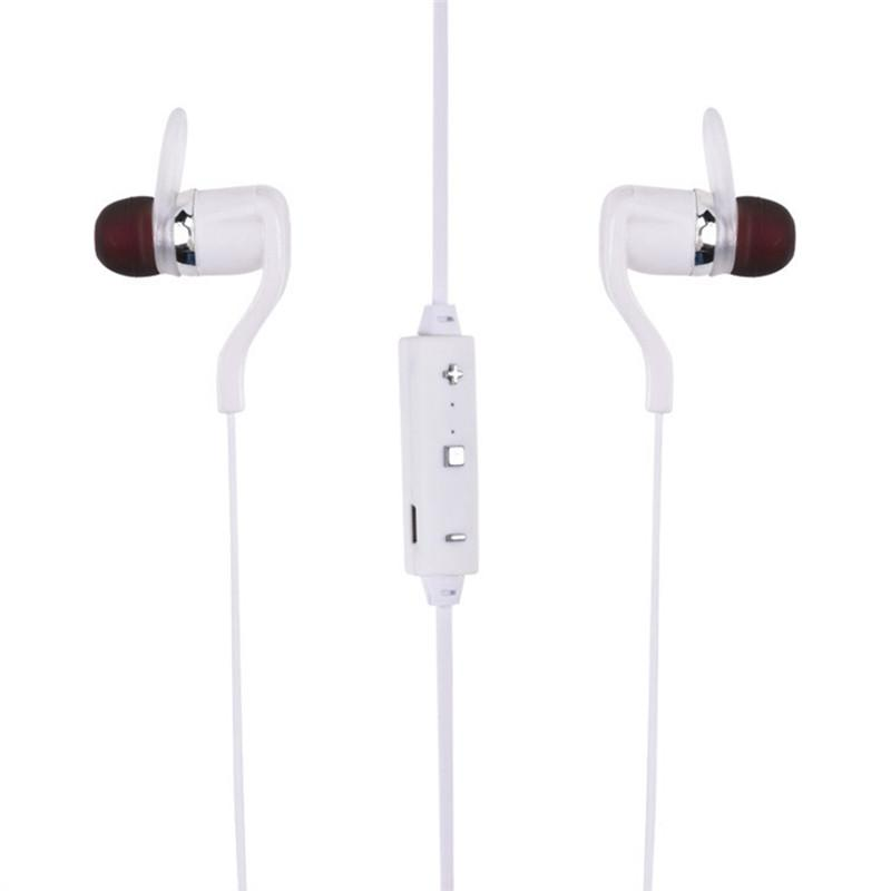 Awesome Earbuds Bluetooth V4.1 Hands-free Wireless In-ear Microphone - White