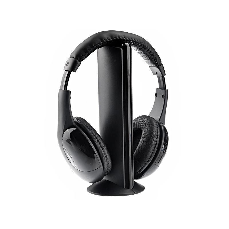 Versatile 5-in-1 Wired & Wireless Monitoring Headphone & Mic iPhone Samsung Smartphone W/ FM Radio