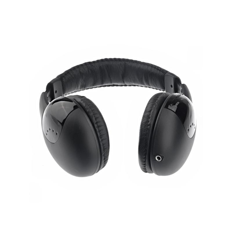 Versatile 5-in-1 Wired & Wireless Monitoring Headphone & Mic iPhone Samsung Smartphone W/ FM Radio - Bottom View