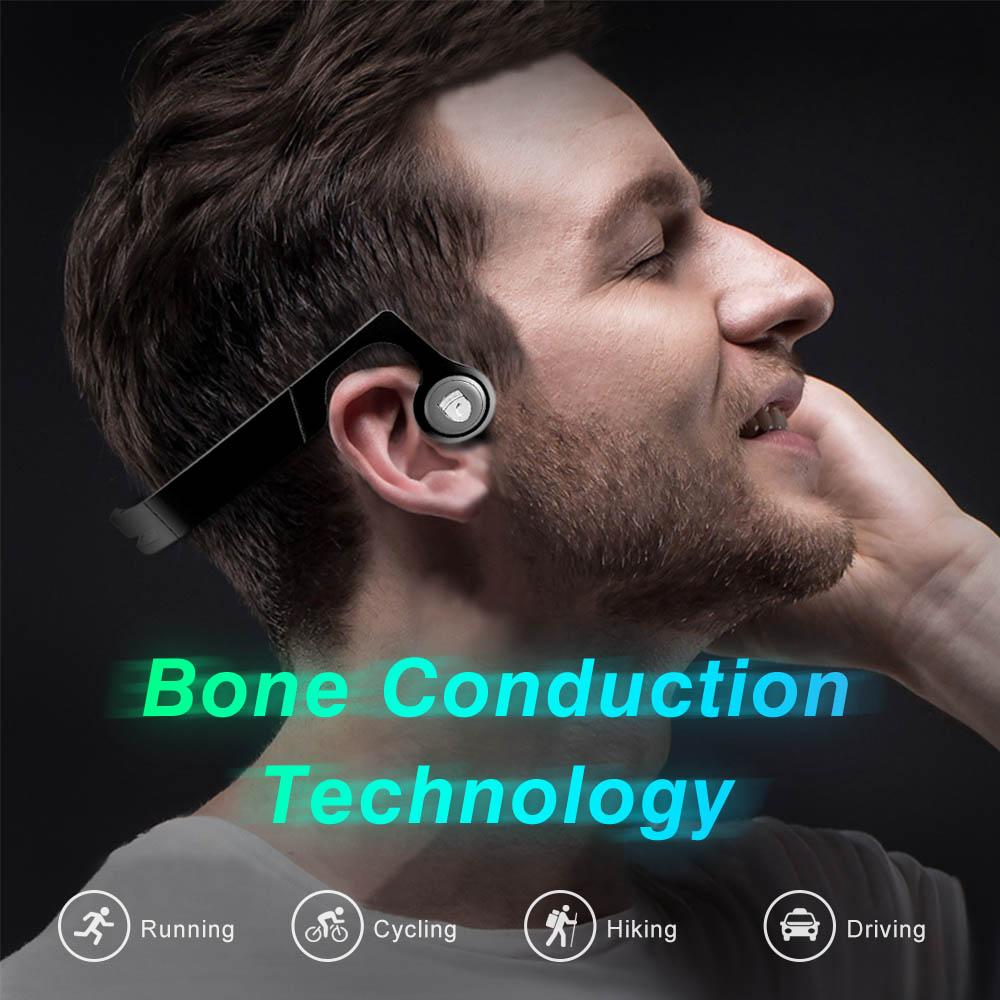 For Seniors Bone Conduction Wireless Headphones Bluetooth V4.2 IPX4-Bone Conduction Technology