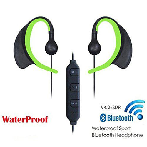Waterproof IPX8 Wireless Earbuds AptX Bluetooth 4.2+EDR Swimming - Green