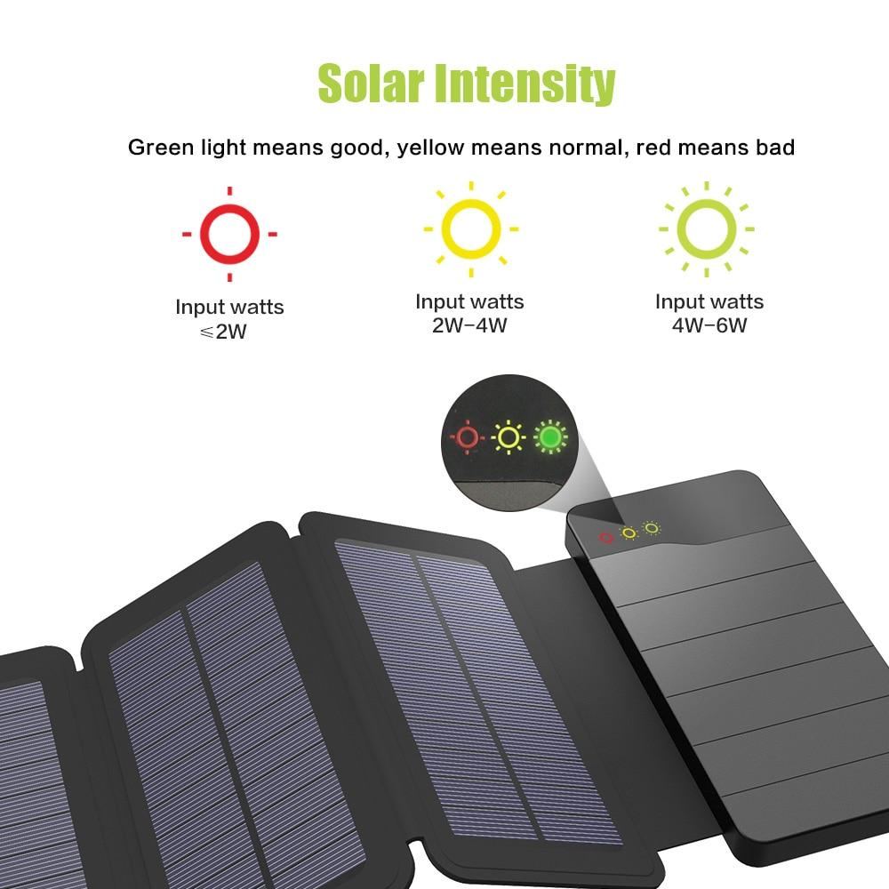 Cell Phone Tablet Solar Power Charger 10000mAh External Battery Backup Pack