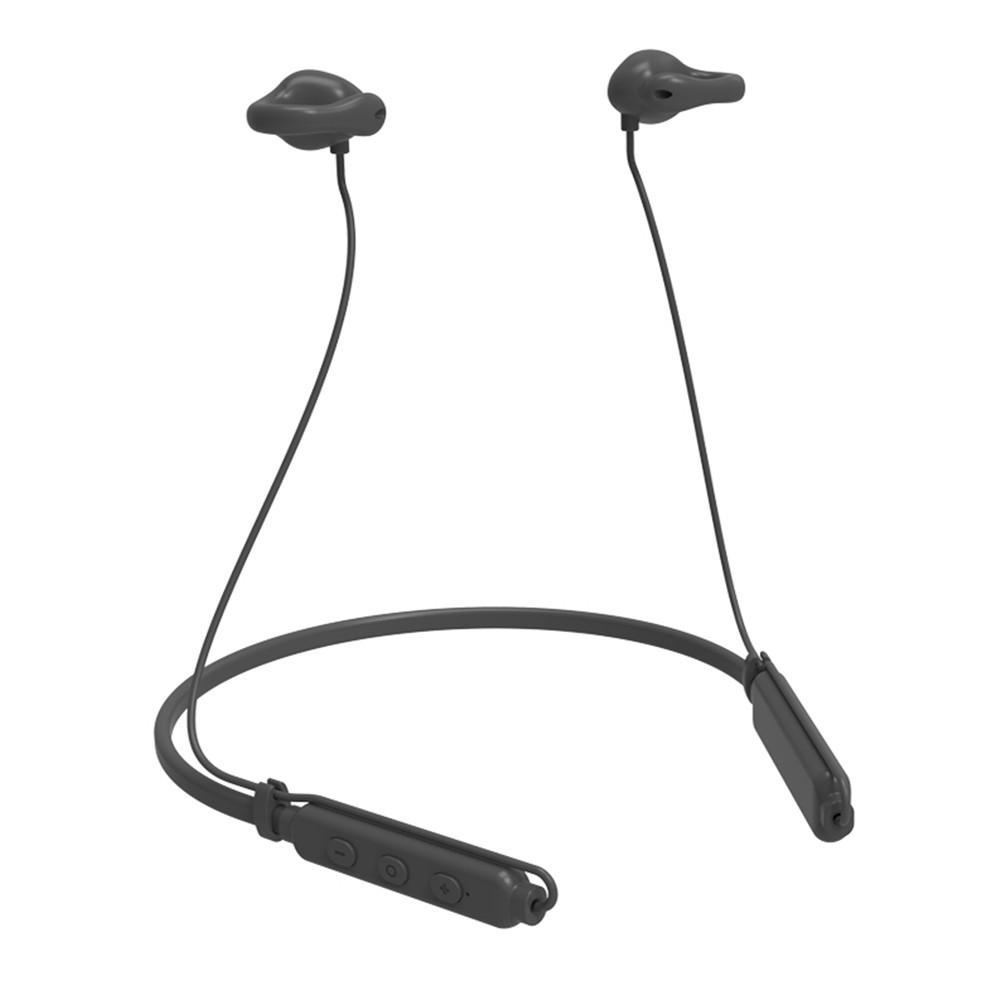 Light Thin Wireless Air Conduction Microphone Headphones-Gray