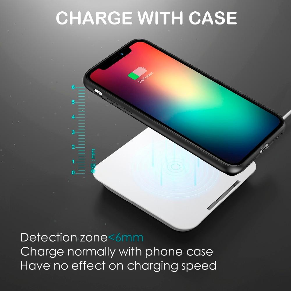 10W Fast Qi Wireless Charger For iPhone 8/X/XR/XS 2 In 1 Portable Power Bank