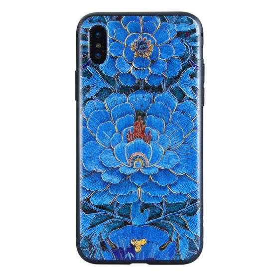 Style Embossed Art Paint TPU Case For iPhone XR