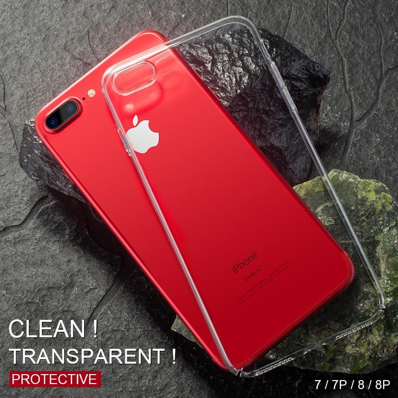Ultra Slim Clear Soft Silicone Phone Case iPhone XS XS MAX XR X 8 7 6