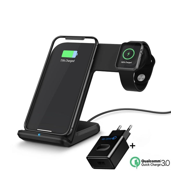 10W Qi Wireless Charger For Samsung & Apple iPhone - Watch