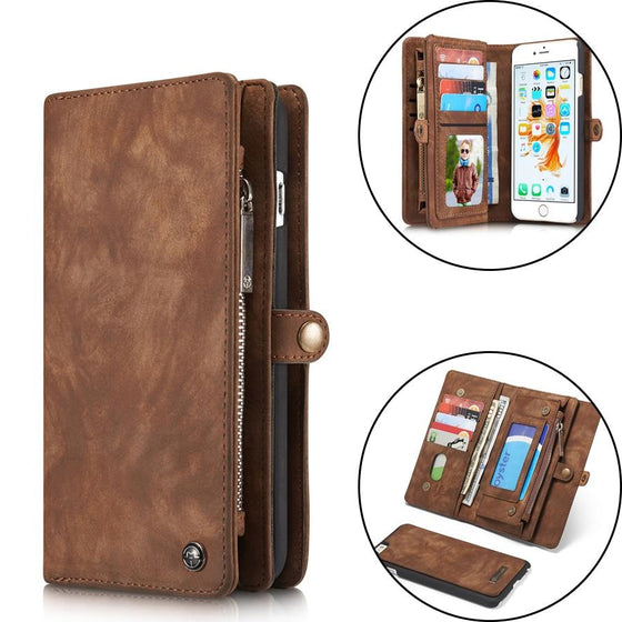 Luxury Leather Folio Wallet Case For iPhone X XR XS Max 8 7 6 6s Plus