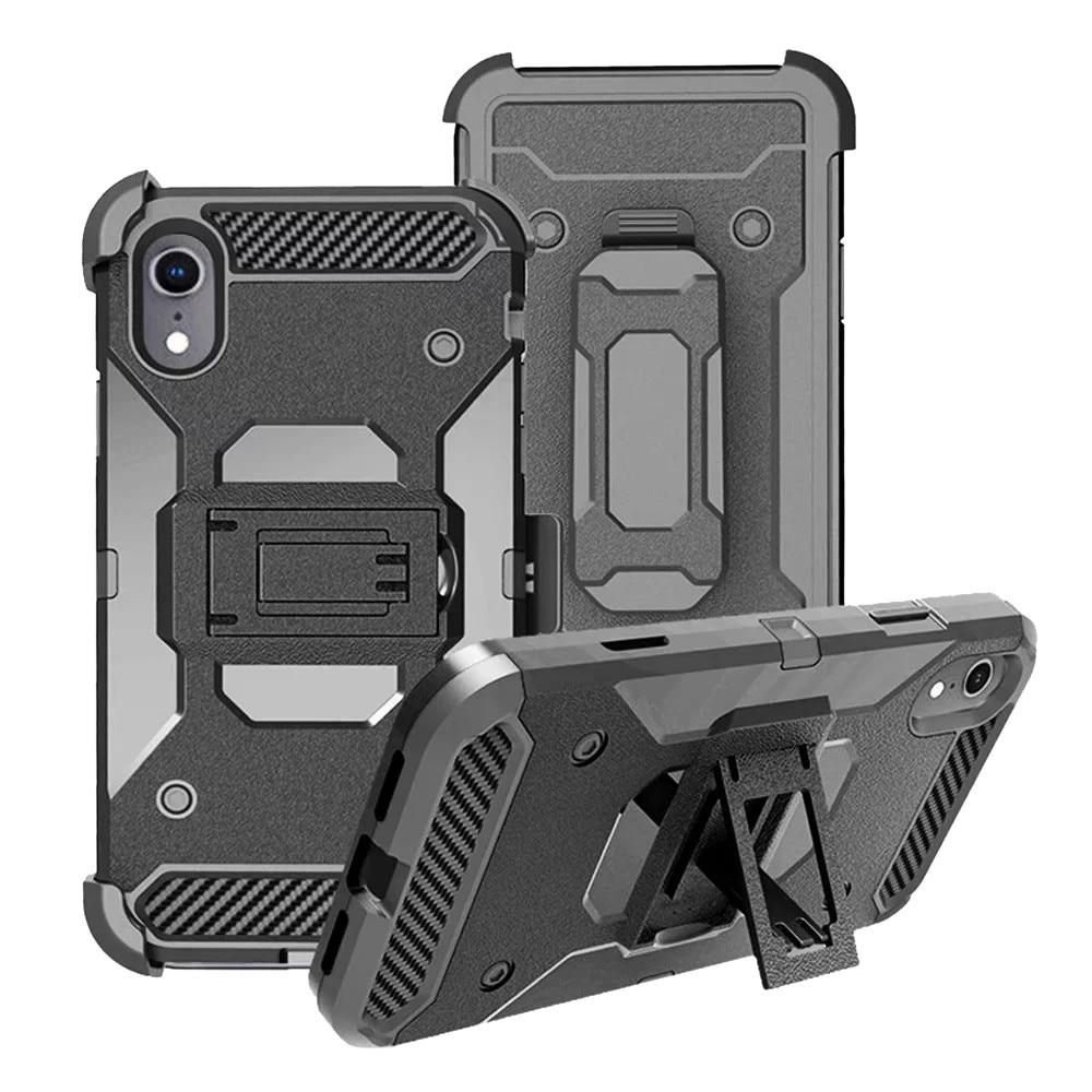 iPhone XR 6.1 Inch Shockproof Case Protection with Kickstand