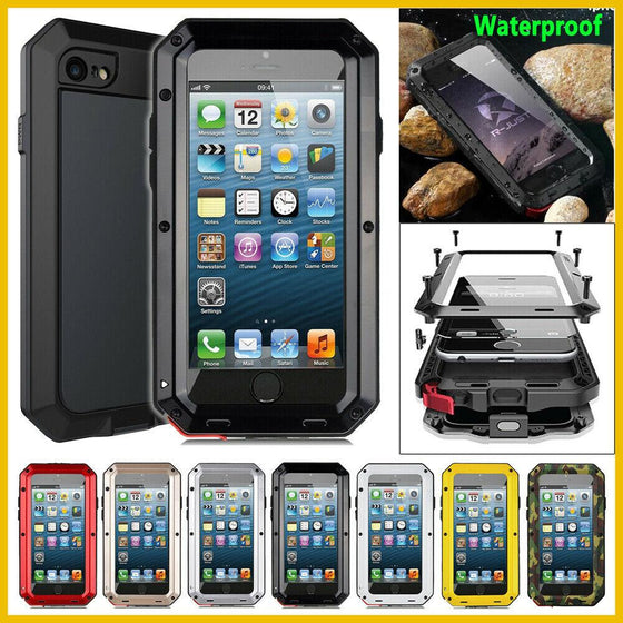 Armor Frame Case & Screen Protector for iPhone iPhone XS Max XR X 8 7 +