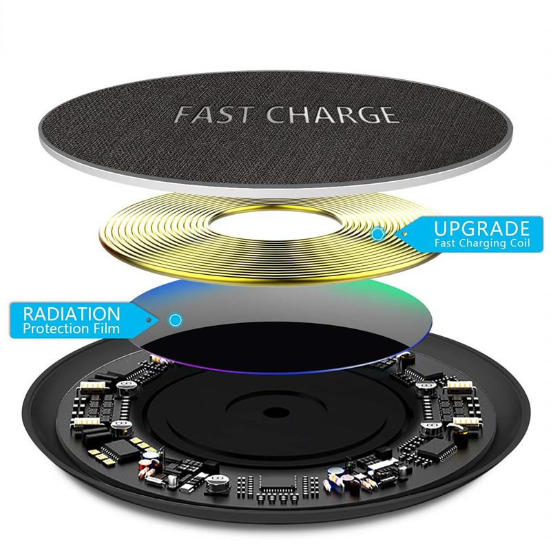 Fast Charge 10W Qi Wireless Charger Samsung S9 S8 S8 Plus S7 S7 Edge