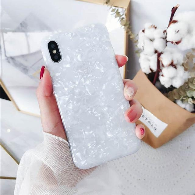 Dream Shell Pattern Case For iPhone 7 8 +X XR XS Max