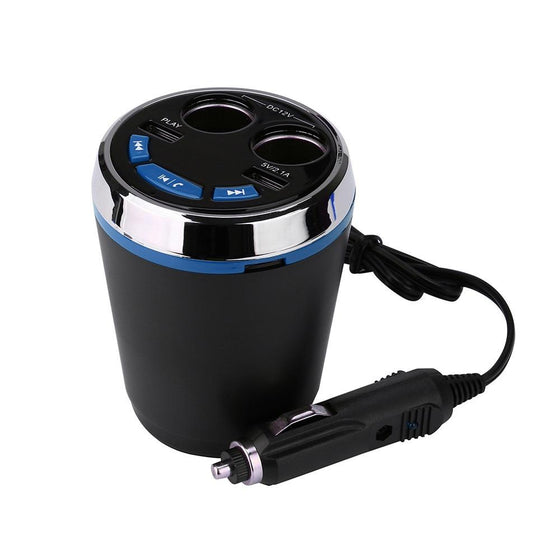 Car Cup Mount Charger 2 Port USB Bluetooth LED MP3 Player Mic Speaker
