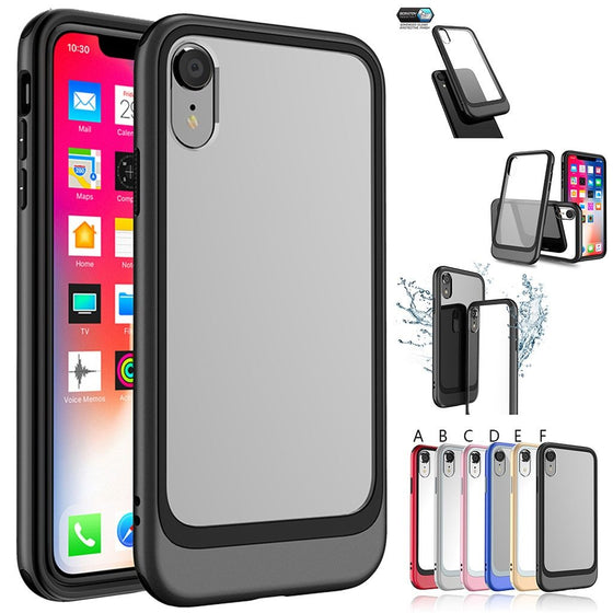Transparent Polycarbonate Back Shockproof Case For iPhone XR
