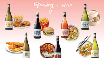 Delicious wines - dirty takeaway - a match made in heaven