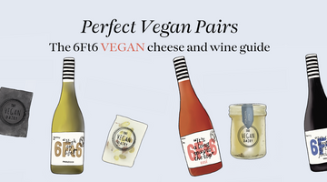 Vegan wine and cheese pairing
