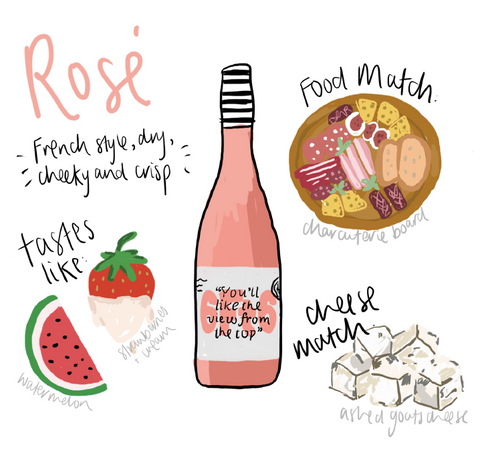 rosé food and cheese match