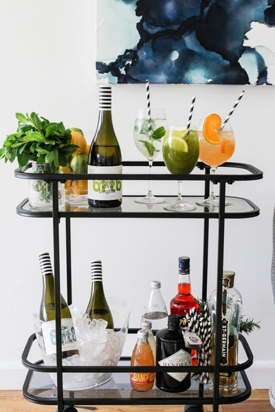 wine spritzer bar - kmart drinks trolley