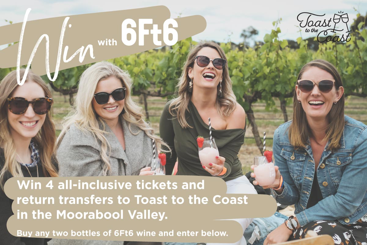 Win Tickets to Toast to the Coast | 6Ft6 Wine