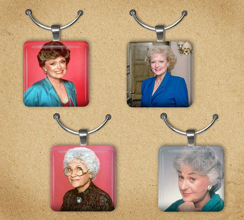 Golden girls wine charms