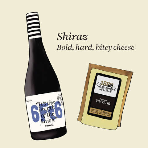 what cheese to pair with shiraz
