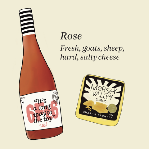 what cheese to pair with dry rosé