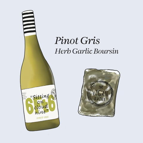 vegan cheese wine pairings pinot gris 6ft6