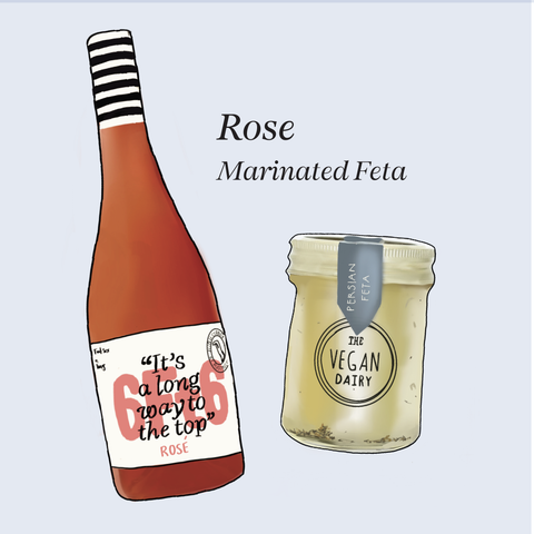 vegan cheese wine pairings rosé 6ft6