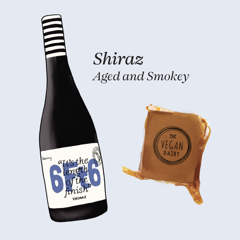 vegan cheese wine pairings shiraz 6ft6
