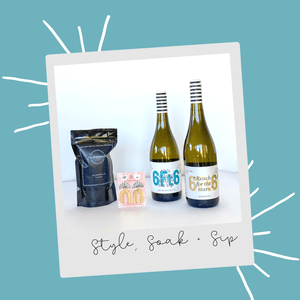 Style, Soak + Sip - Mothers Day Gift Pack - 6Ft6