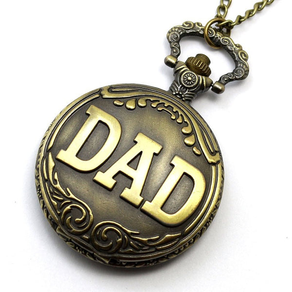 Antique Vintage DAD Pocket Watch Gift Set