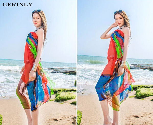 Sarong Butterflies Print Beach Wrap - 3 Colors