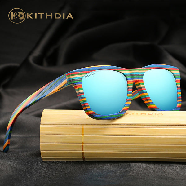 KITHDIA Full-Spectrum Wooden Sunglasses - 4 Colors